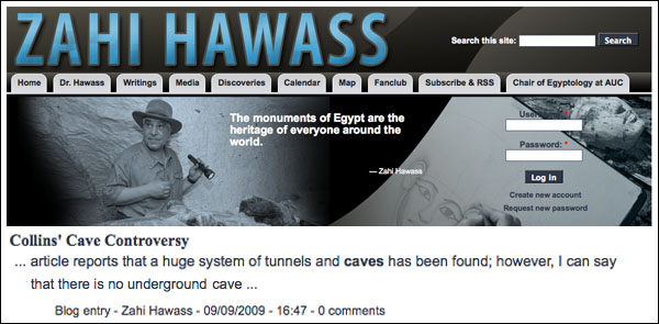 Extensive System Of Caves Discovered Under The Pyramids  Hawass.deny