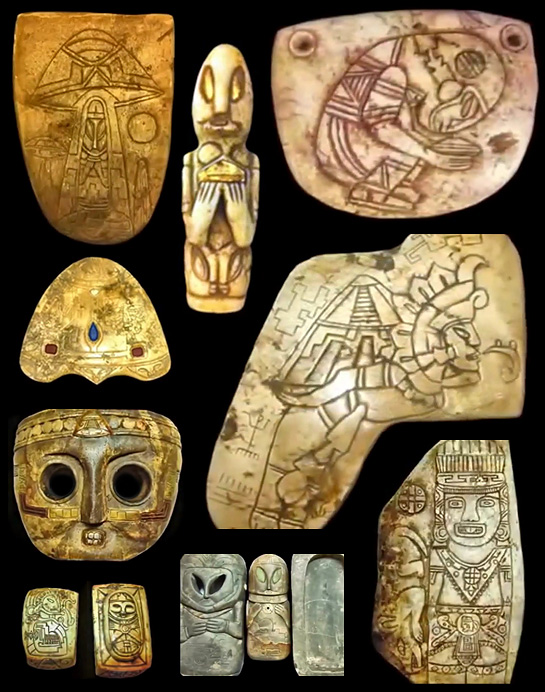 350 ALIEN UFO ARTIFACTS DISCOVERED UNDER MAYAN PYRAMID ...