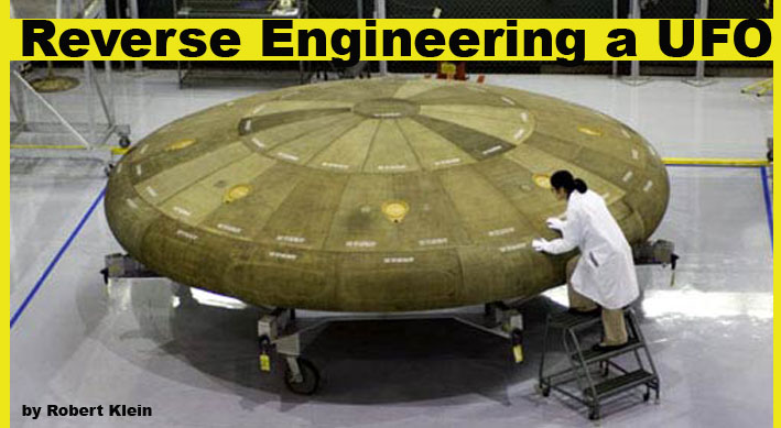 Reverse engineering a ufo blueprints for an alien space ship